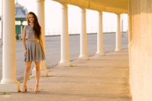 Grey lace skater dress. Blackpool, England
