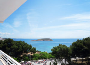Balcony view from The Fergus Resort, Magaluf, Majorca