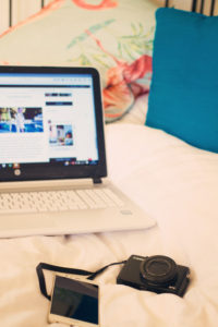 Laptop and Canon G7X