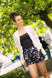 Cream New Look bomber jacket. Teen outfit
