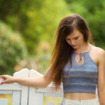 a DIY pattern freebie | handknit cropped top