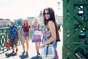 Blogger Lily Kate France wearing H & M dress