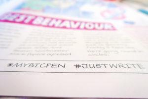 #justwrite Bic pens. Writing