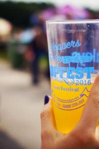 Beer glass at Hopfest Beer Festival