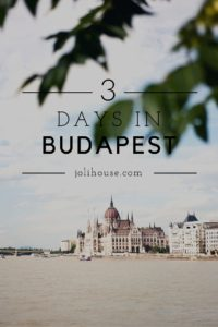 how to make the most of 3 days in Budapest