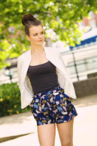 Bomber jacket summer shorts outfit