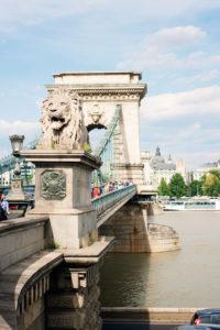 Szechenyi Chain Bridge, Budapest.