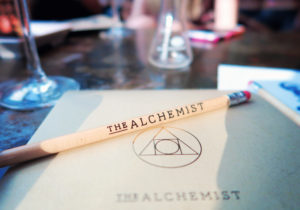 White pencil from The Alchemist cocktail bar Manchester