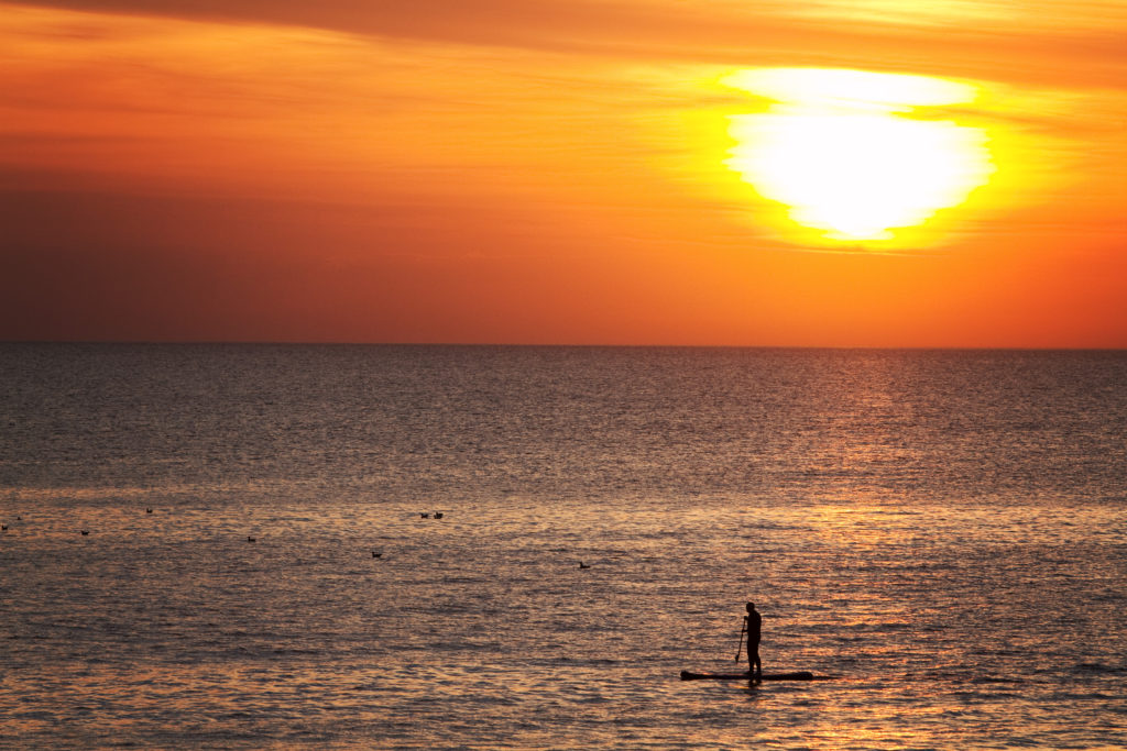 lone-paddleboarder-blackpool
