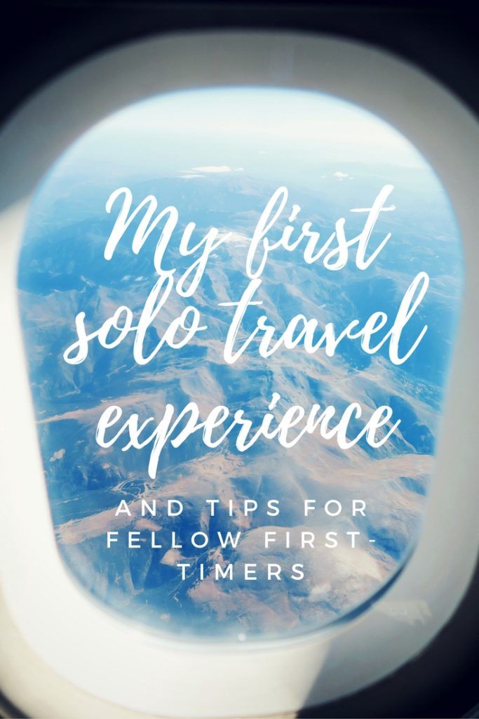 My first solo travel experience