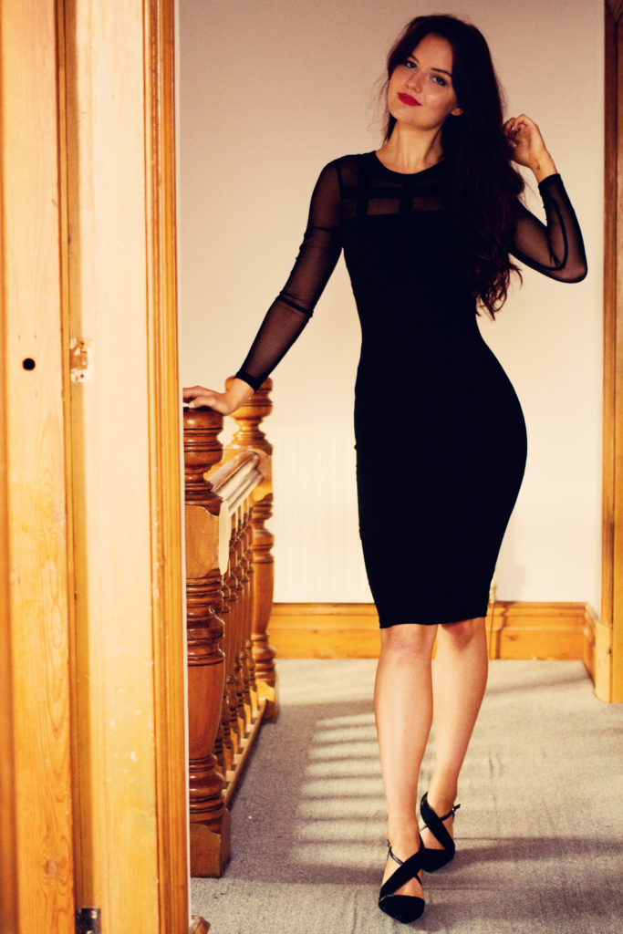 smiling-young-woman-bodycon-dress