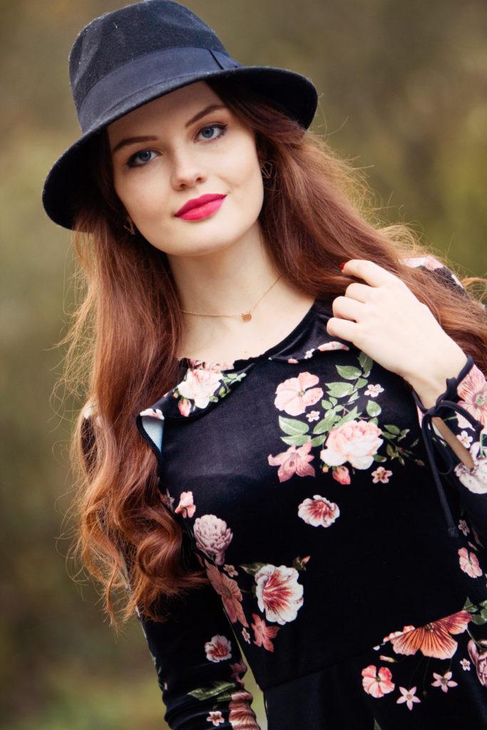 velvet-floral-skater-dress