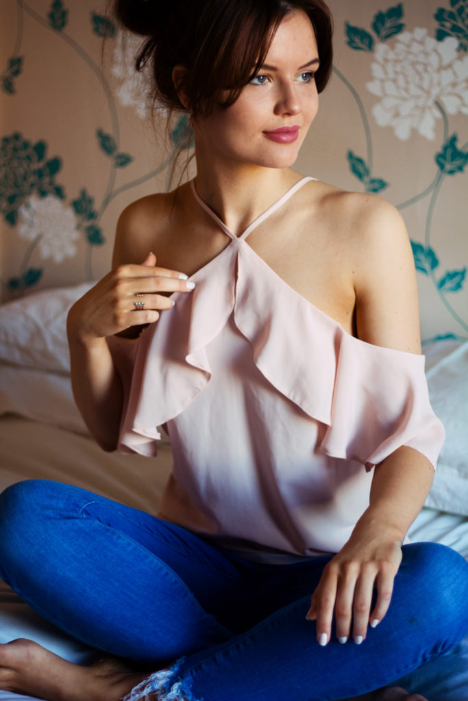 pink-frill-strappy-top