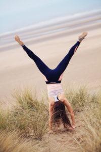 Cartwheel on sand dune