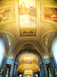 Painted ceiling at Vatican City Rome Italy