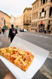 Slice of pizza Rome Italy