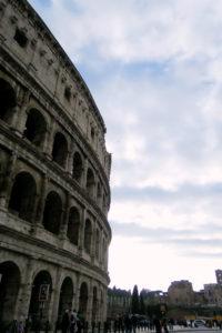 Colosseum Rome Italy. Roman architecture.