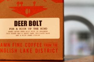 Brown cardboard coffeee packaging.