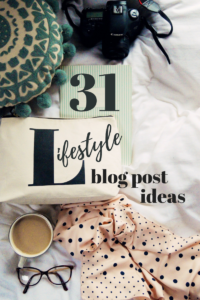 Blo post ideas for lifestyle bloggers flatlay.