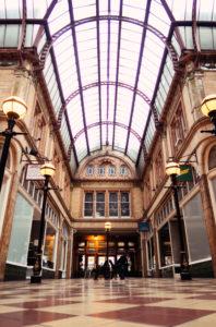 Glass ceiling in Victorian Miller Arcade Preston Lancashire