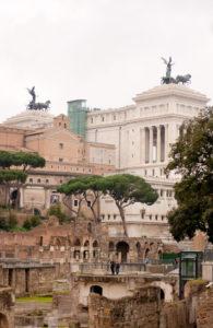 Roman architecture. Rome Italy.