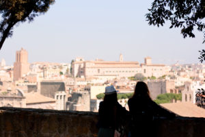 Pair of tourists. Rome Italy.