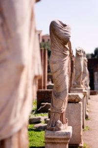Staues of women at Roman Forum Rome Italy