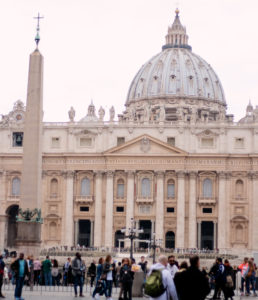 White dome at Vatican City Rome Italy