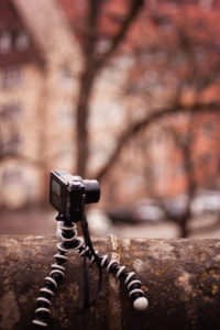 Canon G7X on Gorillapod on branch