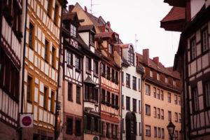 Row of houses in Nuremberg Germany