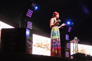 Professor Alice Roberts at Bluedot Festival Jodrell Bank Cheshire