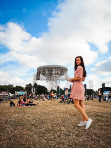 Radio telescope at Jodrell Bank Blue DOt Festival
