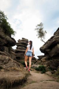 Girl at Brimham Rocks Yorkshire